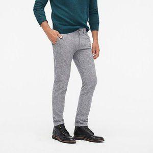 J. CREW Men's Grey Slim-fit Flex Brushed Twill Pant - Size 32/30